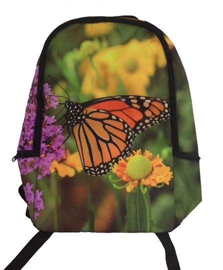 rugzak of schooltas met vlinders